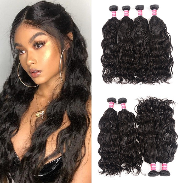Kriyya Natural Wave Human Hair 4 Bundles  Malaysian Virgin Human Hair
