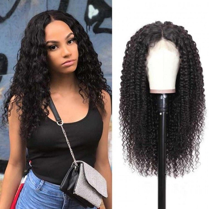 Kriyya Pre Plucked 13x4 13x6 Lace Front Wig 180% Density Jerry Curly Human Hair Wigs For Sale