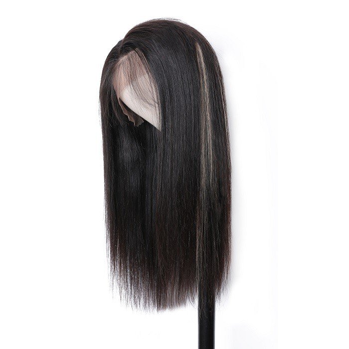 Kriyya Pre Plucked Straight Tranparent Lace Front Wigs 13x4 TG27 Highlight Wig 150% Density