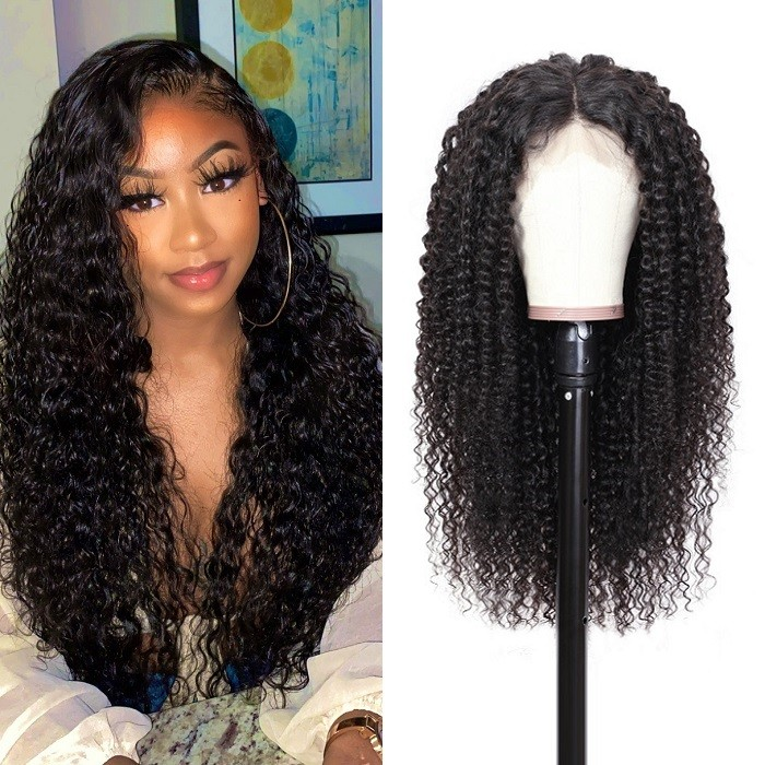 Kriyya Premade Fake Scalp Wig Curly Human Hair 150% Density 13x4 And 13x6 Lace Front Wigs For Black Women