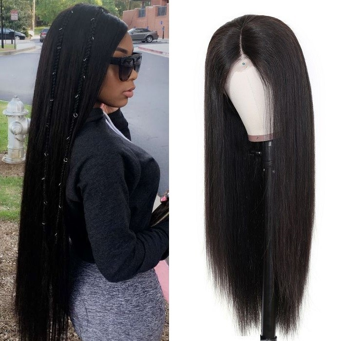 Kriyya Realistic 360 Lace Frontal Wig 180% Density Straight Human Hair Wigs On Sale