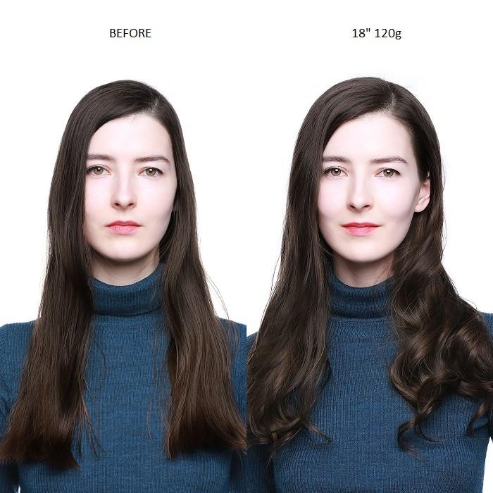 Kriyya 120g Clip In Hair Extensions Dark Brown 100 Remy Human Hair Extensions