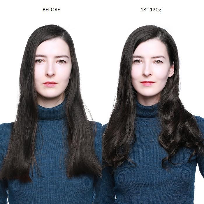 Kriyya 120g Human Hair Clip Ins Real Hair Extensions Natural Black Hair Color Remy Hair