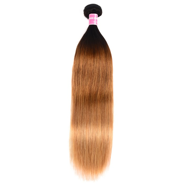 Kriyya Straight Hair 1 Bundle Three Tone Ombre Human Hair Bundles