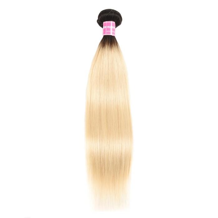 Kriyya Straight Hair T1B/613 Color Ombre 1 Bundle Human Hair Weave