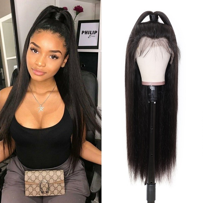 Kriyya Straight Transparent Lace Wig 13x4 13x6 Pre Plucked Lace Front Wigs 180% Density Virgin Human Hair
