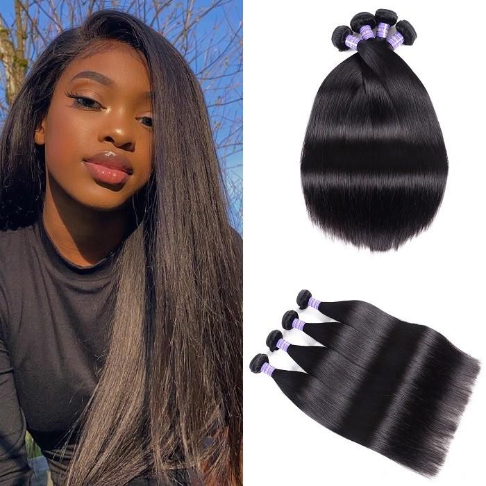 Kriyya Straight Virgin Hair Malaysian Best Human Hair Weave 4 Bundles 7A Hair