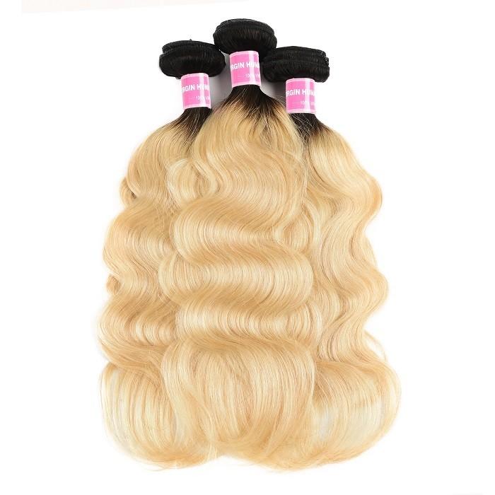 Kriyya T1B/613 Hair Color Indian Body Wave 3 Bundles Human Hair Weave