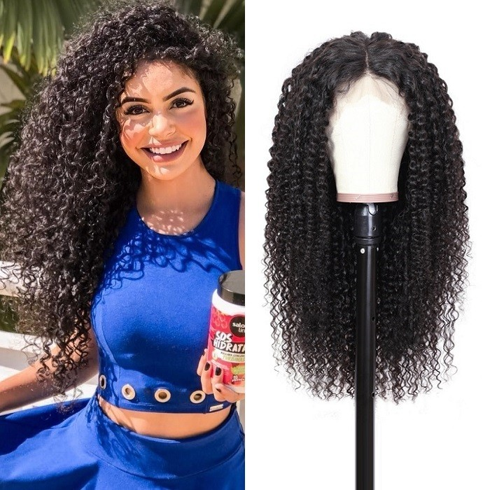 Kriyya Transparent Lace 13x4 And 13x6 Curly Lace Front Wigs 150% Density Human Hair Frontal Wig