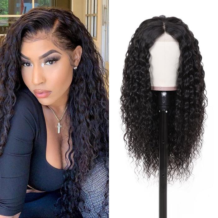 Kriyya Water Wave Lace Front Wigs 13x6 180% Density 100% Virgin Human Hair Wig