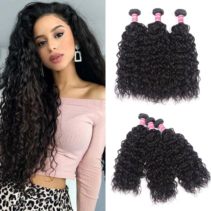 Kriyya Water Wave Wet And Wavy Hair 3 Bundle Deals Malaysian Virgin Human Hair