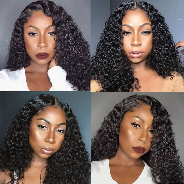 Kriyya 13x4 Jerry Curly Lace Front Human Hair Wigs With Baby Hair 130% Density