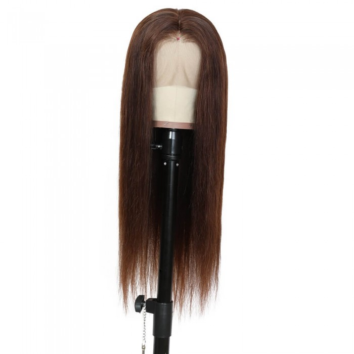 Sabrina | Full Lace Pre Plucked Chocolate Brown Human Hair Wig