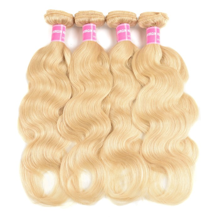 Kriyya Body Wave Hair 4 Bundles 613 Color Indian Human Hair Weave