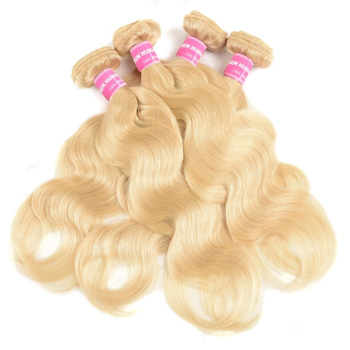 Kriyya Body Wave 100 Human Hair Weave Brazilian Hair 4 Bundles 613 Color