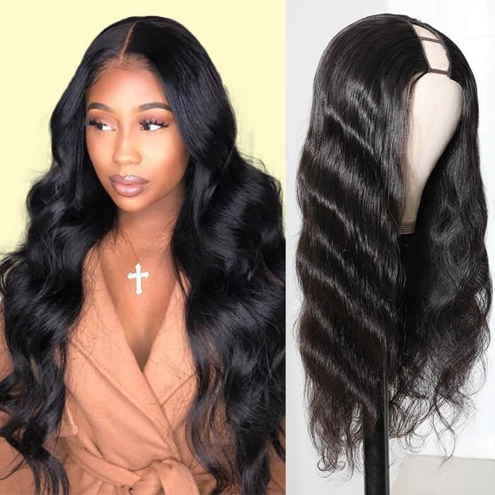 Kriyya Body Wave U Part Wigs 150 Density Human Hair Wigs 12-24 Inch For Women