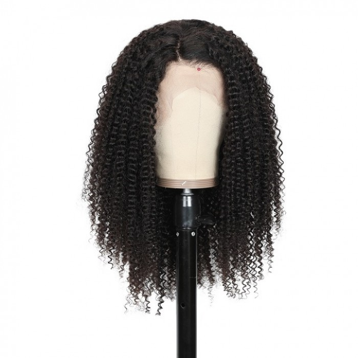 Kriyya Hair 150% Density Kinky Curly 360 Lace Front Wig With Baby Hair Remy Human Hair  Wigs