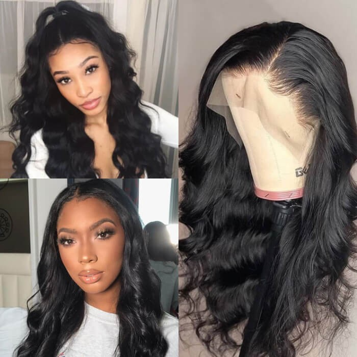 Kriyya Virgin Hair 13*6 Lace Front Pre Plucked Wavy Remy Human Hair Wig