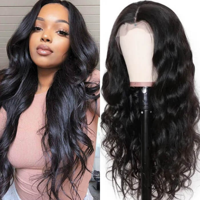Kriyya Pre Plucked 360 Lace Frontal Wig 150% Density Body Wave Wet And Wavy Remy Human Hair Wigs