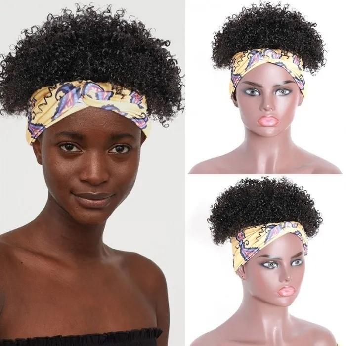 Kriyya Human Hair Headband Wigs Kinky Curly Best Brazilian Human Hair Wigs For Women