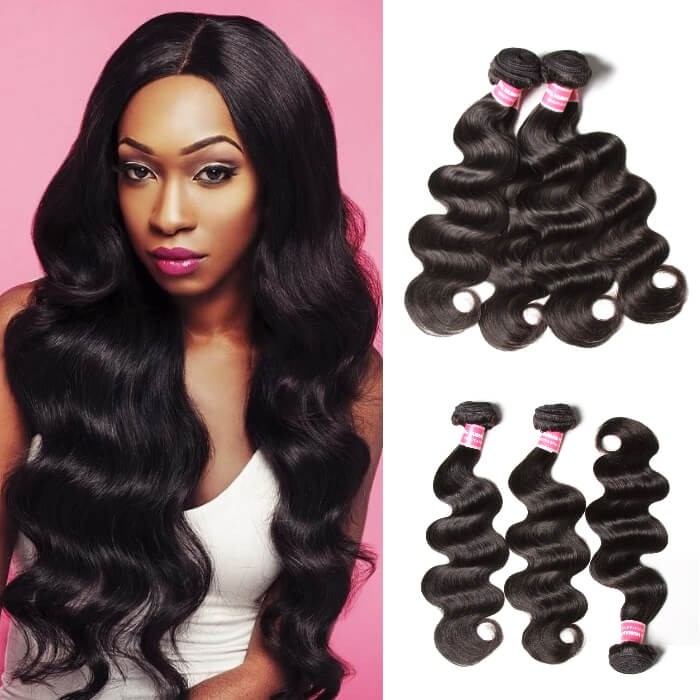 Kriyya Peruvian Hair Body Wave Weave 3 Bundles Hair Bundle Deals 9A Virgin Hair