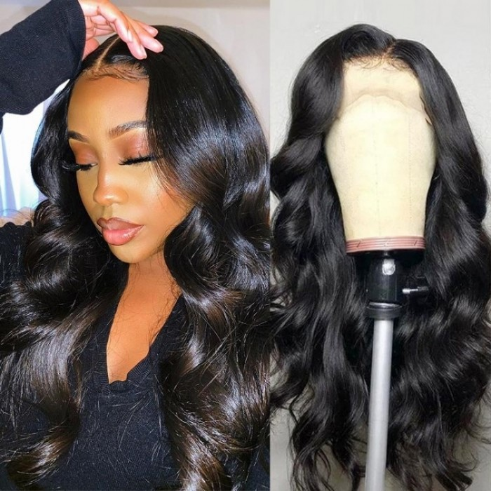Kriyya Pre Plucked 13X6 Lace Front Human Hair Wig Body Wave Lace Wig 150% Density
