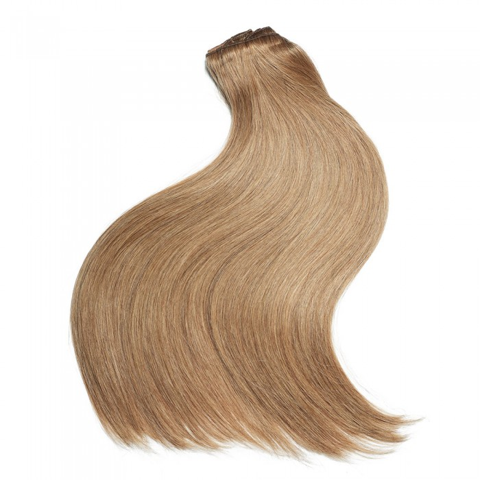 Kriyya Remy Clip In Hair Extensions Strawberry Blonde Human Hair Extensions