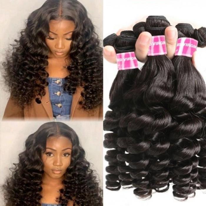 Kriyya Soft Virgin Fumi Hair Bundles 6PCS Real Curly Human Hair Weave