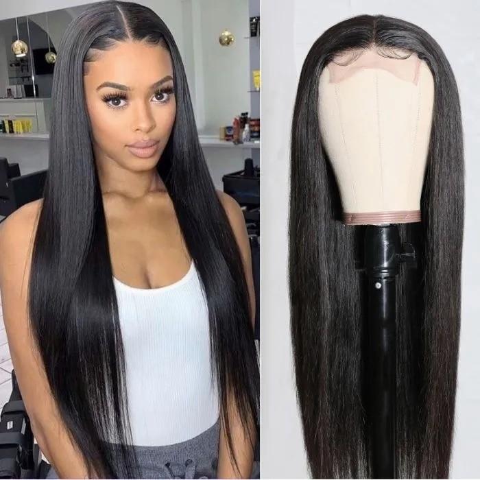Kriyya Straight Hair Wig 150% Density Lace Part Wig Human Hair Natural Color