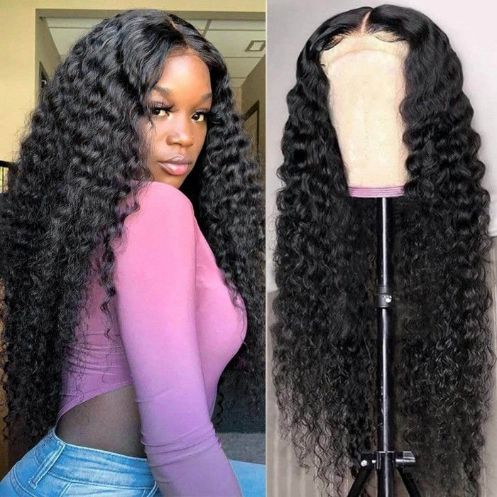 Kriyya Transparent Lace Frontal Wig 13x4 Curly Lace Front Wigs 150% Density