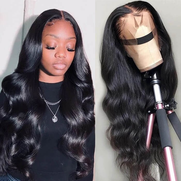Kriyya Virgin Hair Body Wave Wig 13x4 Lace Front Wigs Human Hair 150% Density For Sale