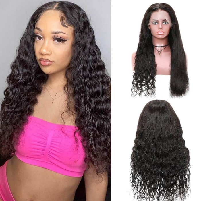 Kriyya Wet And Wavy Dream Deep Wave Human Hair Wigs Pre Plucked 13x4 Lace Front Wigs 150% Density