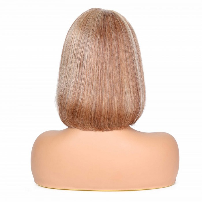 Jennifer | 13*4 Lace Front Pre Plucked Highlight Human Hair Bob Wig