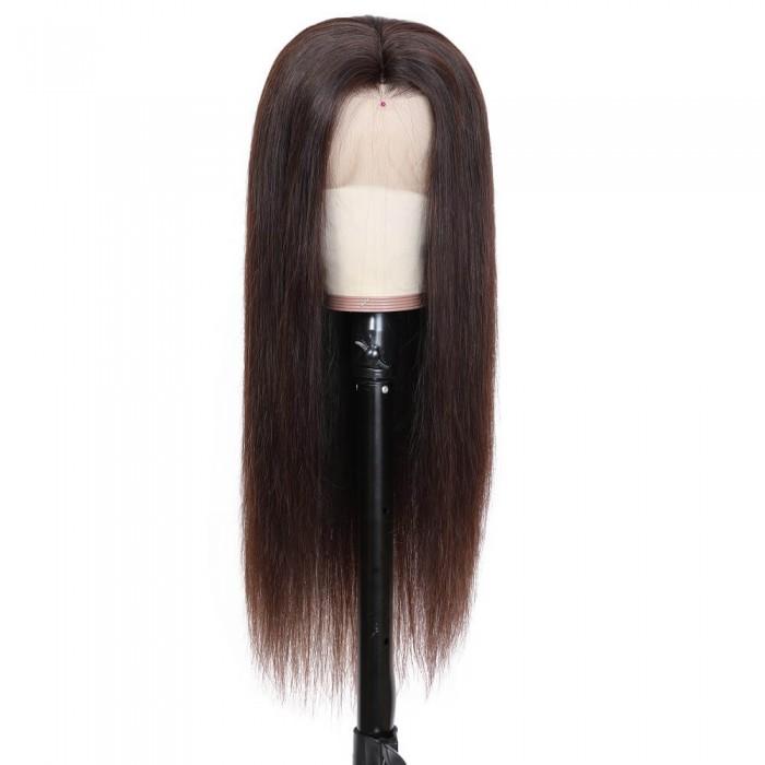 Doris| Dark Brown 13*4 Lace Front Human Hair Wig