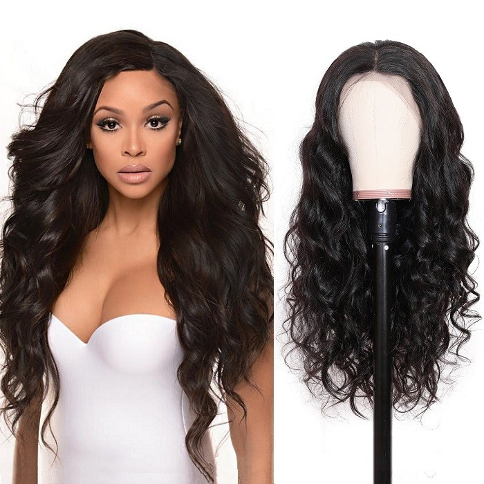 Kriyya 13*4 Lace Front Wigs Pre Plucked Wavy Remy Human Hair Wig 130% Density