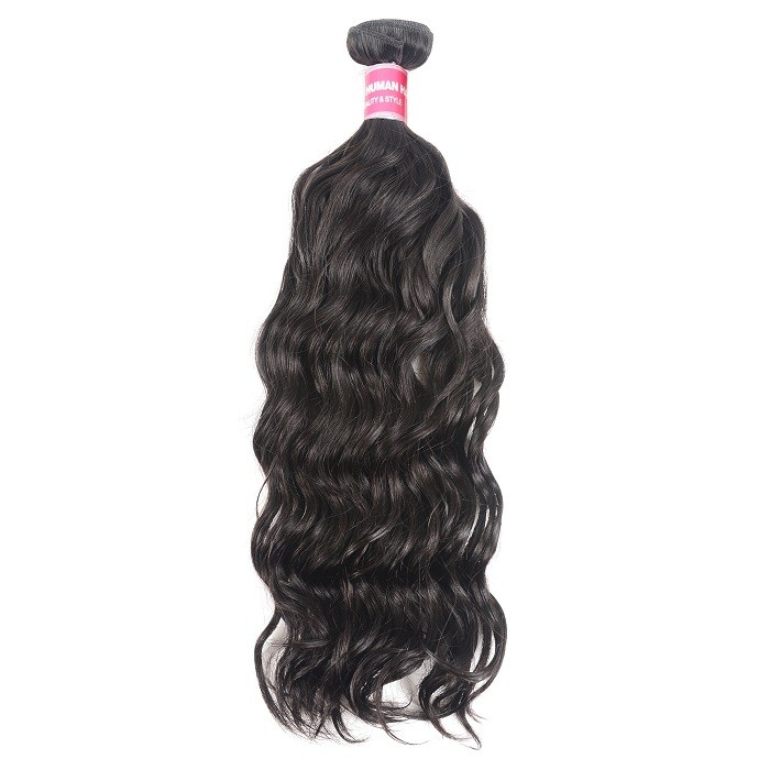 Kriyya Natural Wave Hair 1 Bundle Human Hair Weave Natural Color