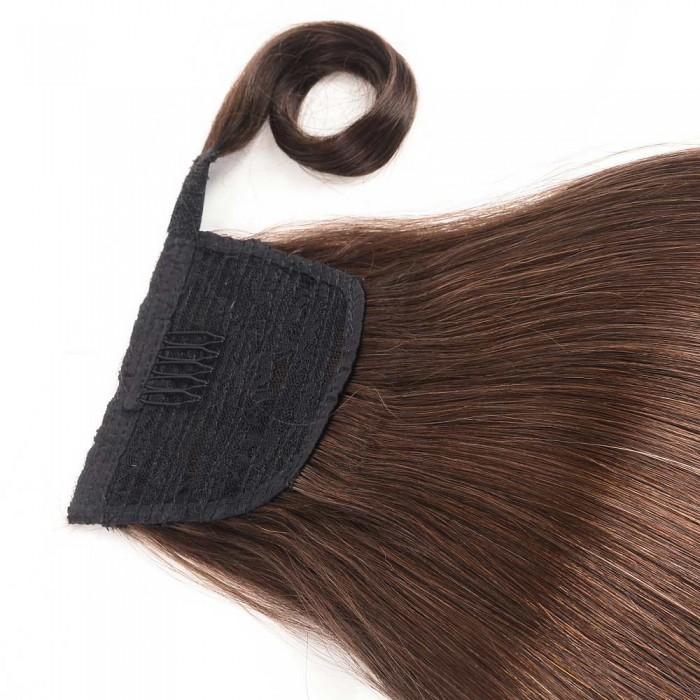 Kriyya 12 Inch High Ponytail Hair Extensions Dark Brown 60g