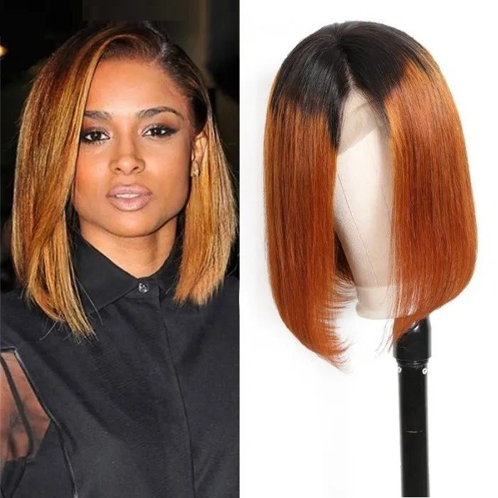 Quanna | 13*4 Lace Front Ombre Remy Human Hair Bob Wig