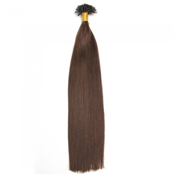 Kriyya Professional U-Tip Hair Extensions Nail Tip Hair-Dark Brown
