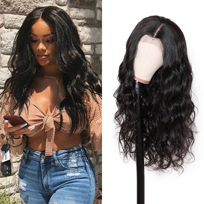 Kriyya 13x4 Transparent Lace Front Wigs With Baby hair Body Wave Human Hair Wig