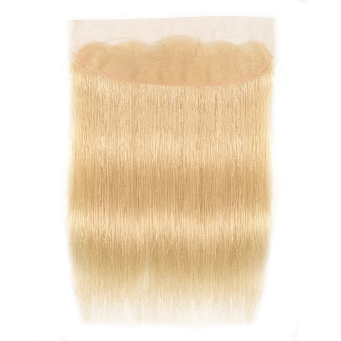 Kriyya 613 Blonde Color Straight Virgin Hair 13x4 Lace Frontal Sew In