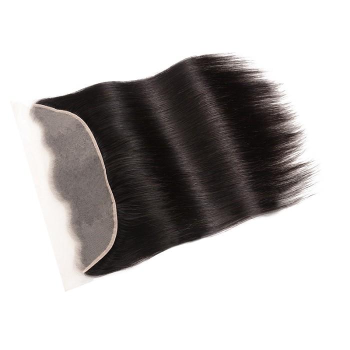 Kriyya Straight Unprocessed Human Hair 13x4 Transparent Lace Frontal