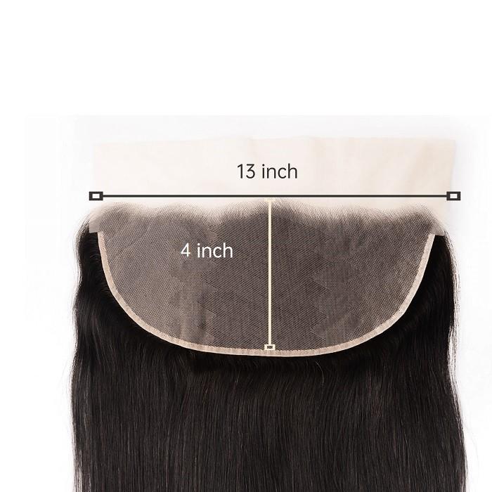 Kriyya Remy Human Hair 13x6 Transparent Lace Frontal Straight Human Hair