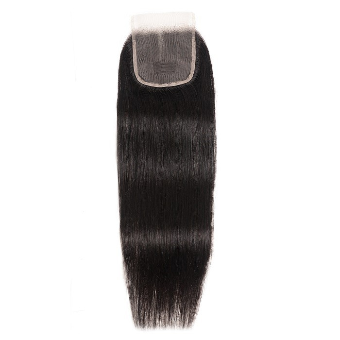 Kriyya Straight 4*4 Lace Closure 100% Human Hair Transparent Lace Closure
