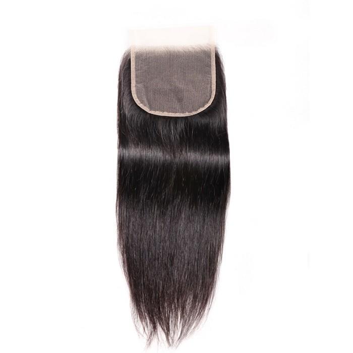 Kriyya Virgin Human Hair 5x5 Transparent Lace Closure Straight Human Hair