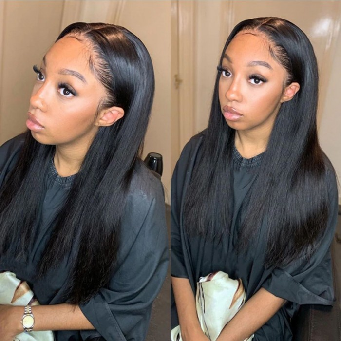 Kriyya Hair 180% Density 13x4 Transparent Lace Front Wig Straight Human Hair Wigs
