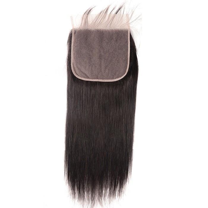 Kriyya 7x7 Lace Closure Unprocessed Virgin Hair Straight 100 Human Hair