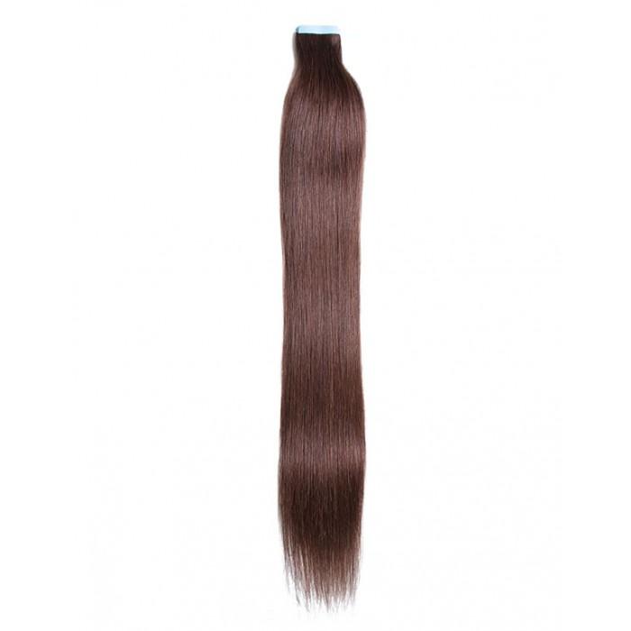 Kriyya Remy Tape In Hair Extensions Dark Brown Human Hair Extensions