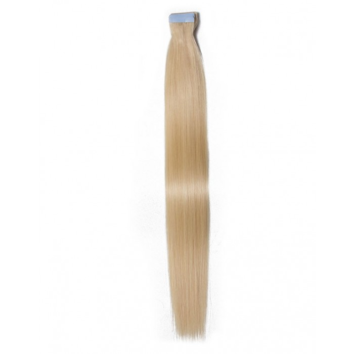 Kriyya Seamless Tape In Human Hair Extensions Platinum Blonde Human Hair For Sale