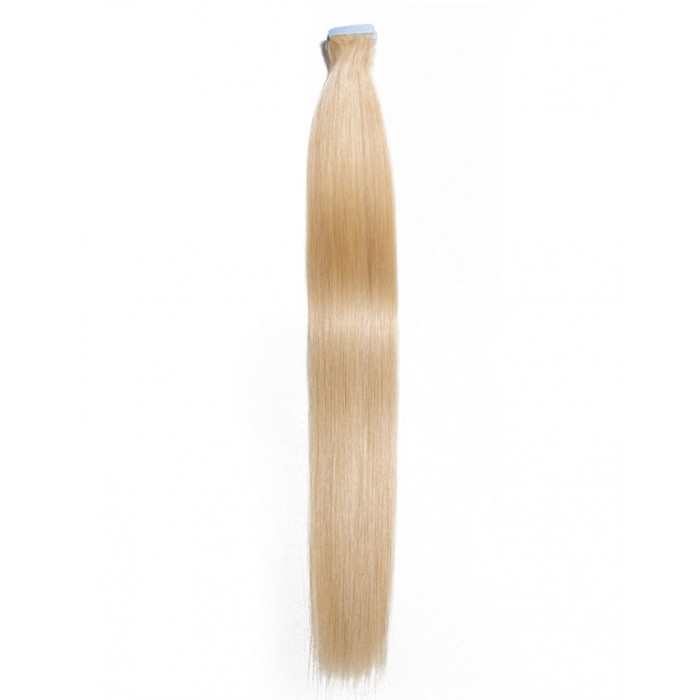 Kriyya Tape Ins 18-24 Inch Blonde Human Hair Extensions Remy Hair
